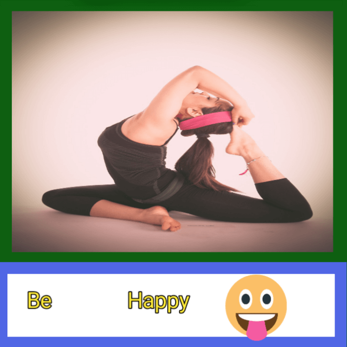 be happy for good health