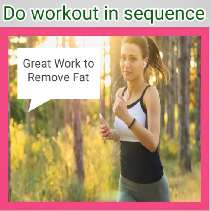 remove fat for workout